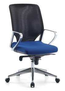 Karian AIR ALU 01, Chefsessel, Netzrücken, für das Büro