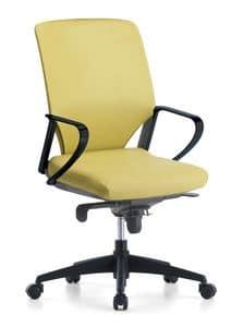 Karina Soft 01, Directional Bürostuhl, mit Schwenkrädern