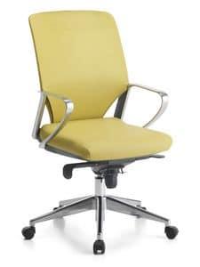 Karina Soft ALU 01, Directional Bürostuhl, mit Rädern