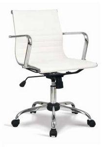Lab-D, Bürostuhl mit niedrigem Rücken, mit Lederbezug
