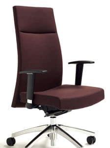 M2 executive, Ergonomische Bürostühle mit Armlehnen und Radfahrbasis