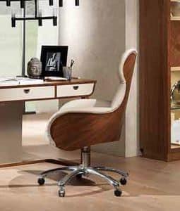 PO59 Cartesio, Drehstuhl für Büros im klassischen zeitgenössischen Stil