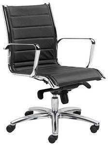 Teknik-T medium, Bürostuhl mit mittlerer Rückenlehne, gepolstert und ergonomisch