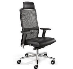 TITANIA 2863, Executive-Bürostuhl, Rückenlehne in elastischem Mesh