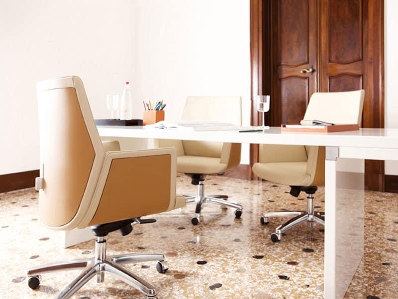 Tua executive, Chefsessel für moderne Büro geeignet, Lederbezug