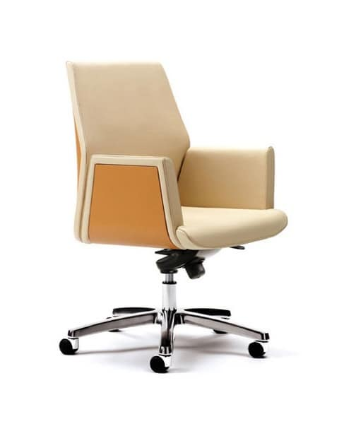 chefsessel f r moderne b ro geeignet lederbezug idfdesign. Black Bedroom Furniture Sets. Home Design Ideas