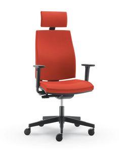 UF 440 / A, Bürostuhl mit Armlehnen Regulierung, Kaltschaum
