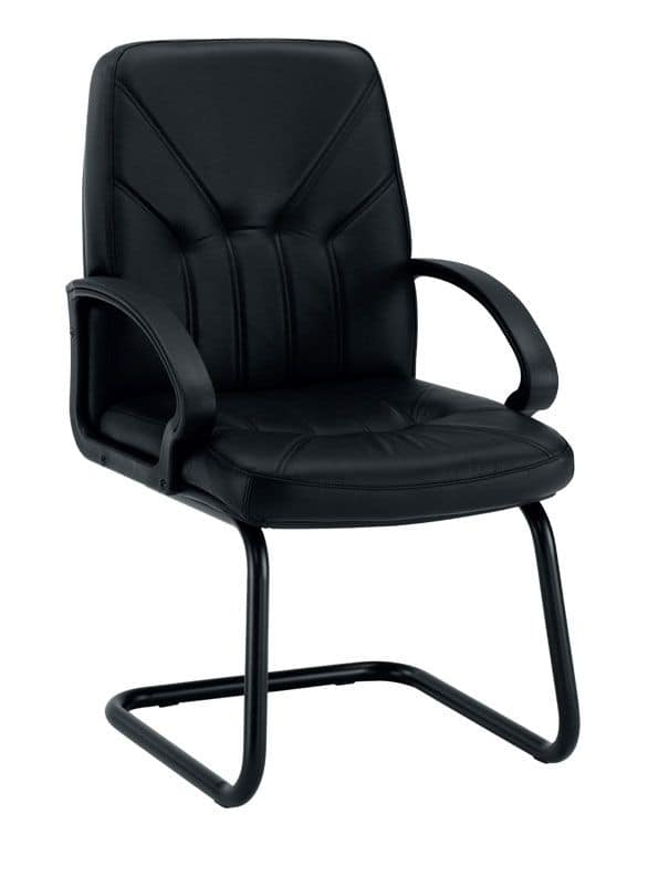 UF 501 / S, Stuhl auf Kufen mit gepolstertem Sitz, Polsterung Optionen
