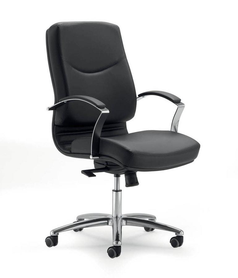 UF 531 / B, Bürostuhl mit niedriger Rückenlehne und Räder