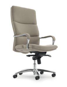 UF 577 A, Stuhl mit Rollen für Büro, der gepolsterte Sitz