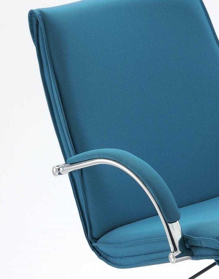 UF 584 / B, Sessel mit verchromtem Gestell und Rädern