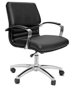 Venus CR medium, Bürostuhl mit verchromten Armlehnen und Sockel