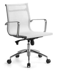Wind 02, Managerial Stuhl für Büro auf Rädern, Kippmechanismus