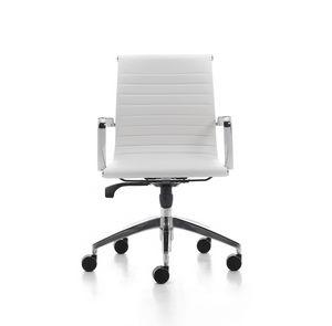 Wind Soft 02, Drehstuhl für Büro-Management, aus verchromtem Stahl