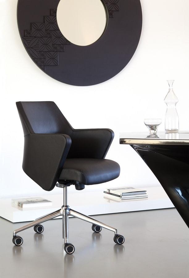 Wrap 03, Bürostuhl mit niedriger Rückenlehne