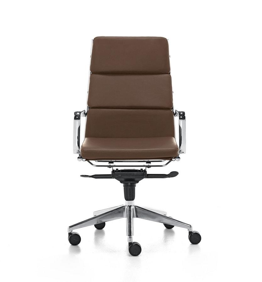 Aalborg Soft 01, Chefsessel mit hoher Rückenlehne für Büro