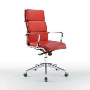 Cleo hoch, Stuhl mit verchromtem Metall, höhenverstellbar