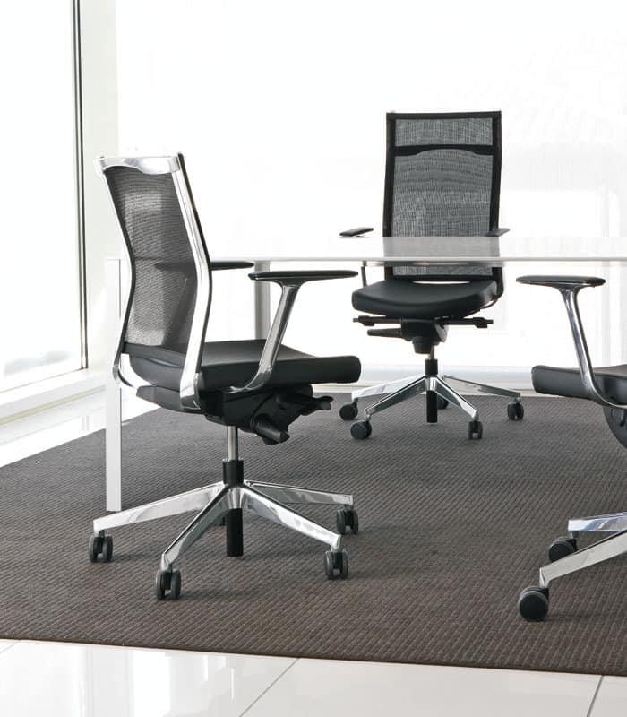 Kosmo mesh, Stuhl mit hoher Lehne, für Professional Studies
