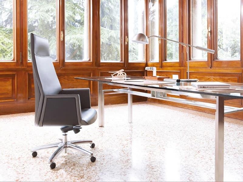 Tua presidential, Bequeme Stühle zum Präsidentenamt, Lederbezug
