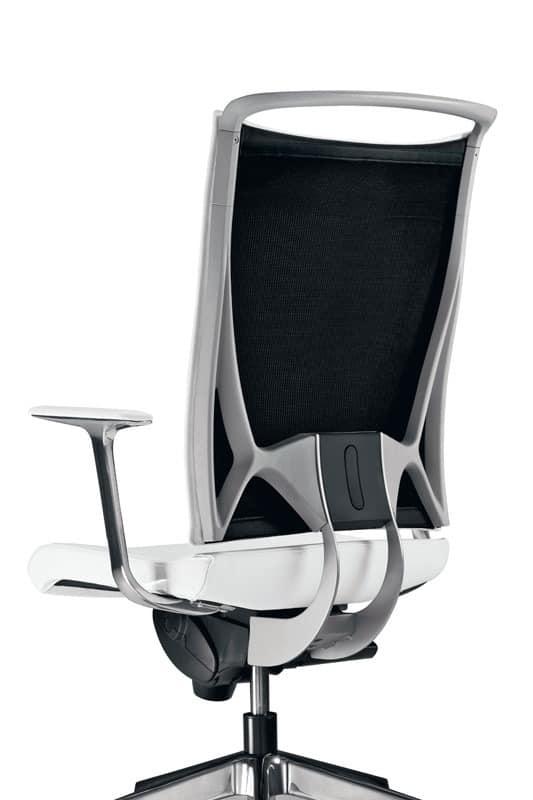 Korium, Stuhl mit Netzrücken, für das Büro