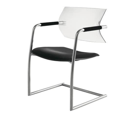 AIRE jr 406B, Stuhl mit Kufen, Rückenlehne aus Polypropylen