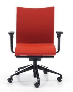AVIAMID 3506, Bürostuhl mit Rollen, verstellbare Lordosenstütze