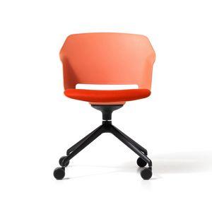Clop Räder, Stuhl aus Polypropylen auf Rädern