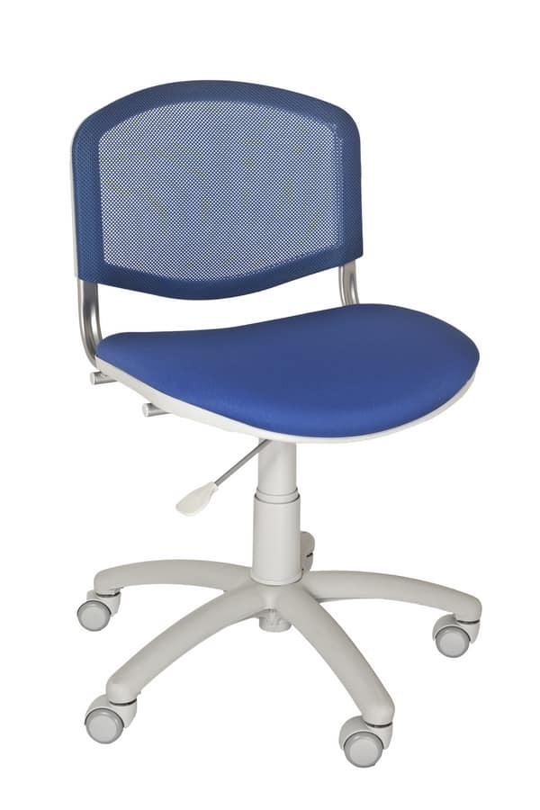 Stuhl für Kinderzimmer oder Heimbüro, mit Mesh-Rückenlehne | IDFdesign