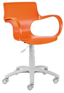 Gimmy SW, Stuhl mit gummierten Rollen für Parkett