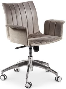 Ginevra Bürostuhl, Drehbarer Bürostuhl mit ergonomischem Sitz