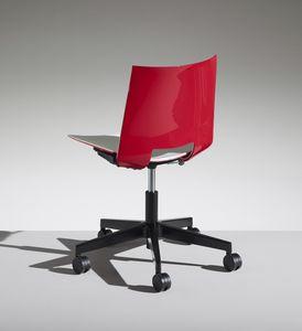 HL3 4, Stuhl mit 5 Speichen auf Rädern für das Büro