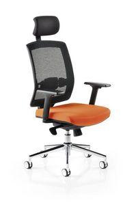 Horizon 550R, Bürostuhl mit Netzrücken, mit Kopfstütze