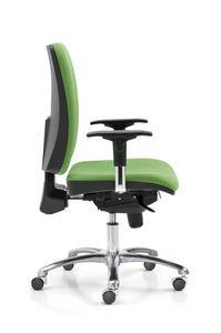 Iron 330, Bürostuhl für Büro mit Rädern