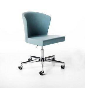 Kontè gas, Höhenverstellbarer Stuhl, auf Rollen
