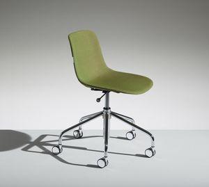 LUCKY 4, Stuhl auf 5 Speichen aus verchromtem Stahl
