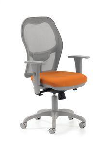 Mesh 510R, Bürostuhl mit Netzrücken und gepolstertem Sitz