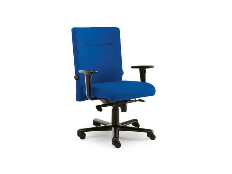 Non Stop task 24hc 51100, Squared Stuhl aus Stoff, für das Büro