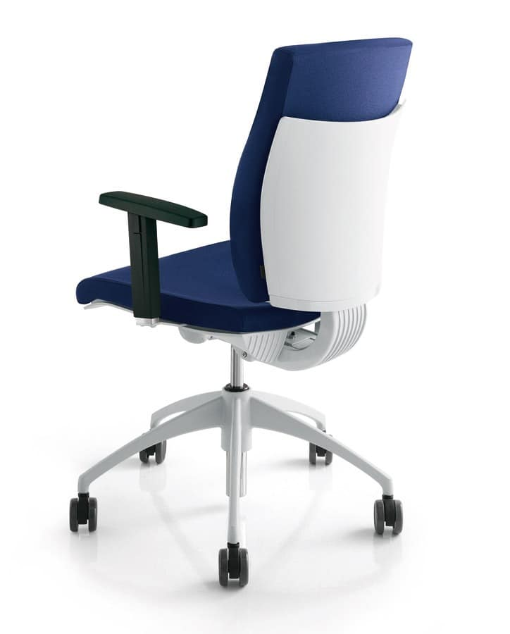 PIXEL, Gepolsterte Drehstuhl für Büro und Empfang