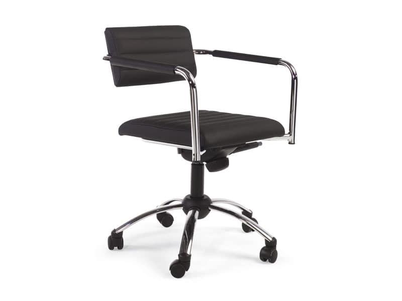 Tiani 02/4, Sessel für Büro, höhenverstellbar und Rückenlehne