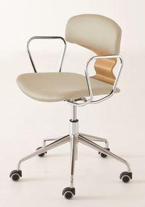Tolo 5RB, Design Stuhl auf Rollen für das Büro