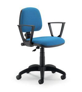 UF 307, Aufgabe Bürostuhl, mit Armlehnen, schnell, modern