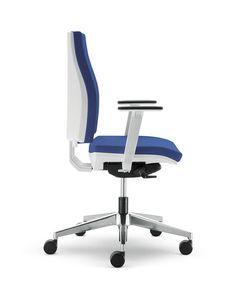 UF 443 / B, Bürostuhl mit Rollen, in Nylon und Aluminium