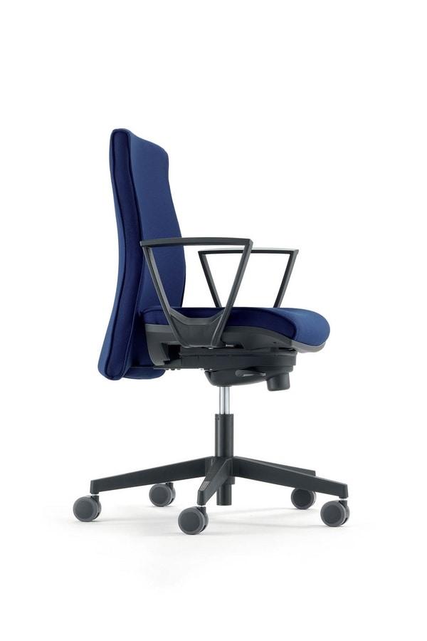 UF 446 B, Mit Rädern Stuhl, mit verstellbaren Armlehnen, für das Büro