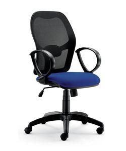 UF 457, Bürostuhl, mit neuem Design, mit runden Armlehnen