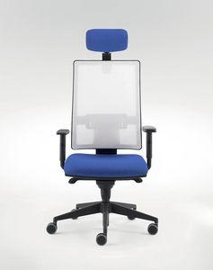 UF 491 A, Stuhl für moderne Büro mit Schiebesitzsystem
