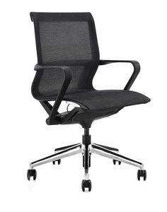 Urania medium, Stuhl für Besprechungsraum, mit Sitz und Rückenlehne im Netz