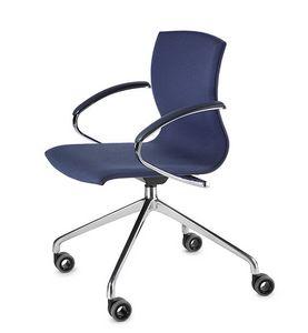 WEBWOOD 368ZR, Stuhl auf Rädern, Chromgestell