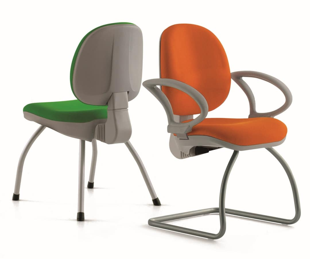 WING, Ergonomischer Stuhl mit Armlehnen, für Büro-