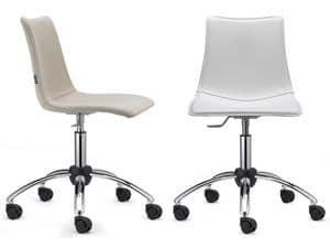 Zebra Pop mit Rädern, Sitz gepolstert, höhenverstellbar, mit Rädern, für das Büro