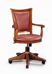 Art. 530g, Stuhl mit Rädern, mit Massivholzrahmen